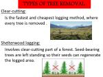 types of tree removal
