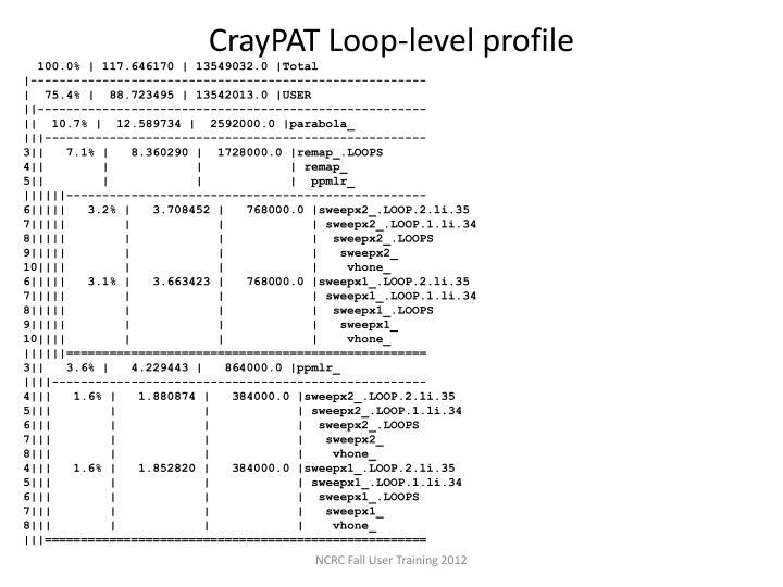 CrayPAT