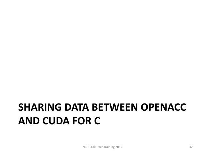 Sharing data between