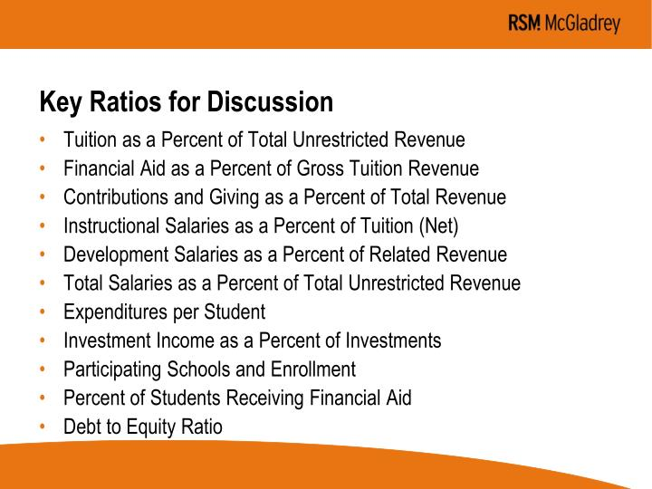 Key Ratios for Discussion