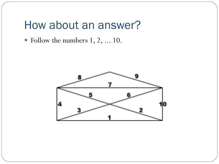How about an answer?