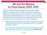 me and the mosque by zarqa nawaz 2005 nfb