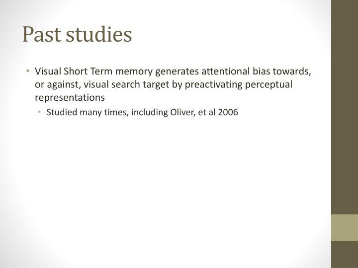 Past studies1