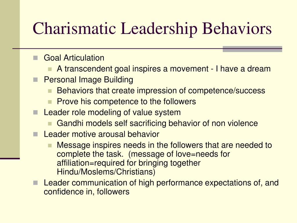 PPT   Transactional, Charismatic and Transformational Leadership ...