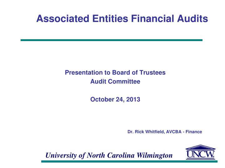 associated entities financial audits n.