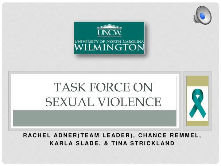 Task force on sexual violence
