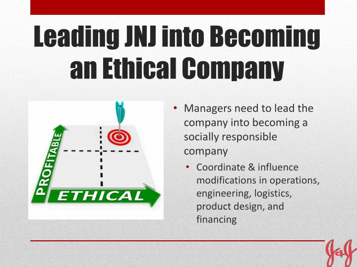 Managers need to lead the company into becoming a socially responsible company