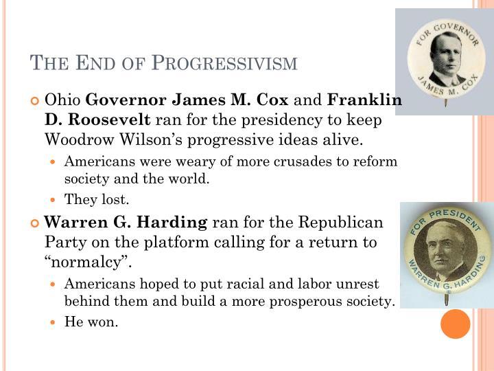 The End of Progressivism