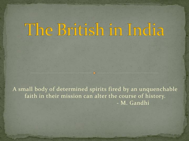 the british in india n.