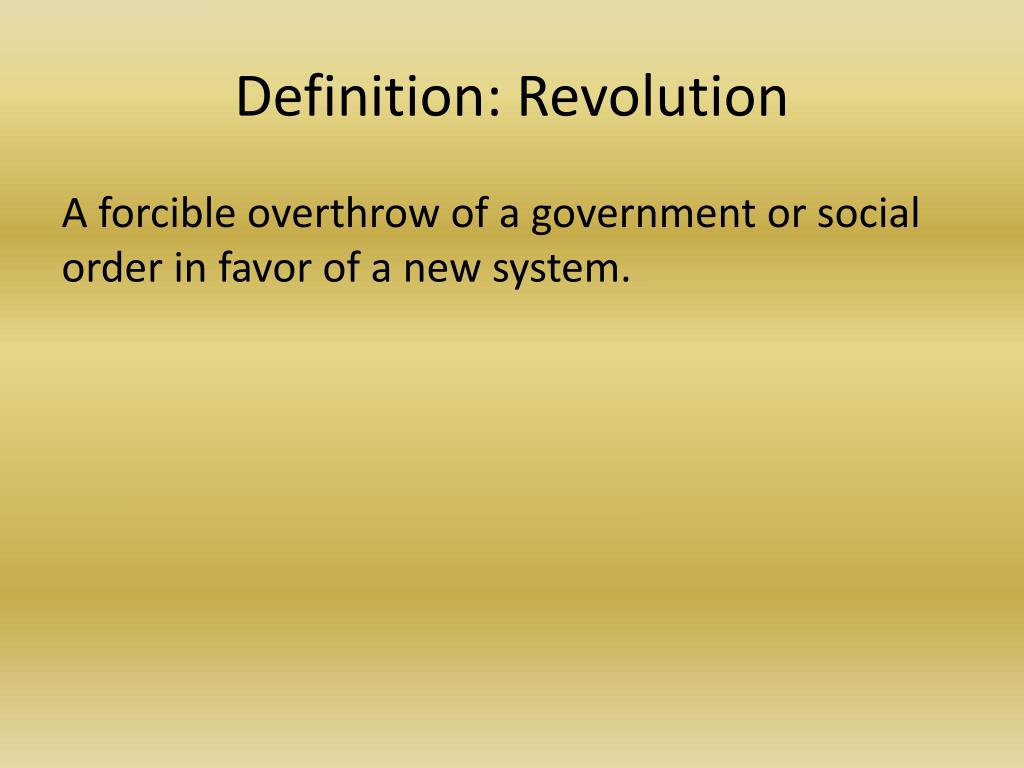 what is revolution definition