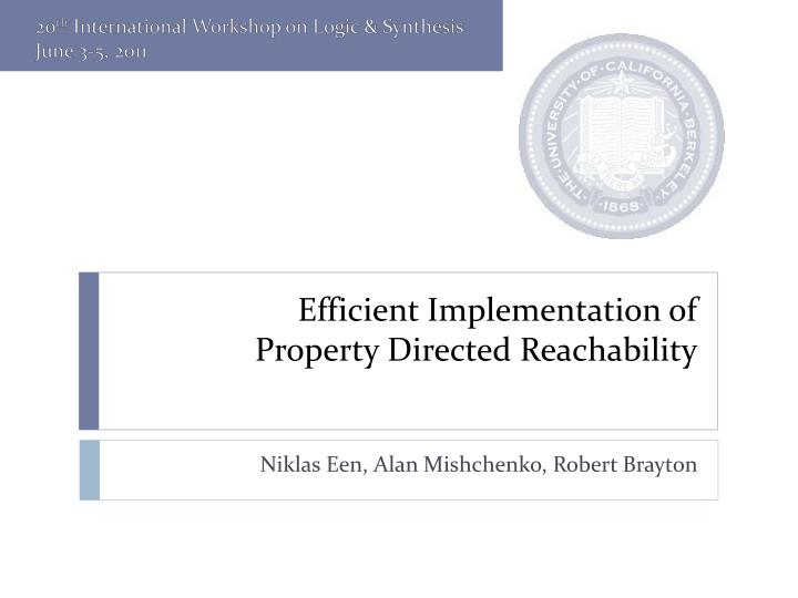 efficient implementation of property directed reachability n.