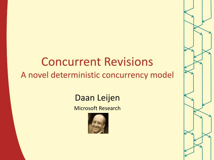 concurrent revisions a novel deterministic concurrency model n.