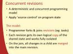 concurrent revisions