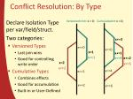 conflict resolution b y type