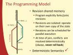 the programming model