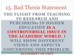 15 bad thesis statement