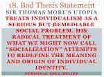 18 bad thesis statement