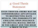 4 good thesis statement