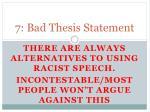 7 bad thesis statement