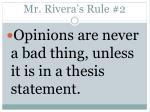 mr rivera s rule 2