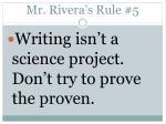 mr rivera s rule 5