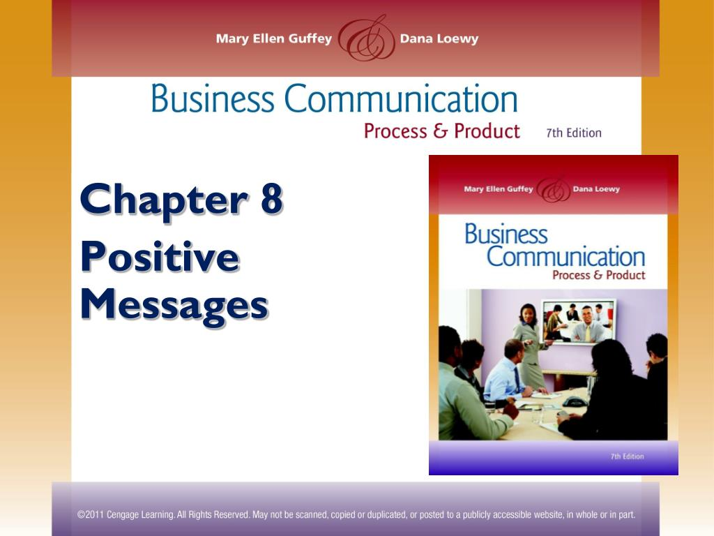 Ppt Chapter 8 Positive Messages Powerpoint Presentation Free Download Id 2470093