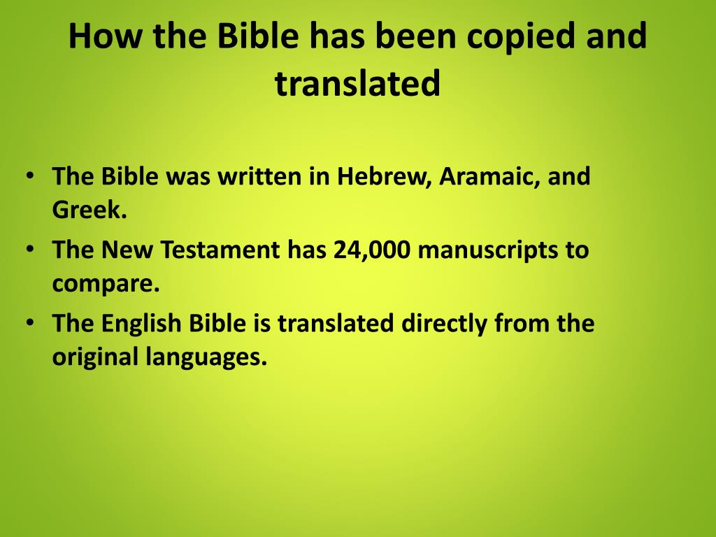 PPT - Is the Bible True? PowerPoint Presentation - ID:2470281