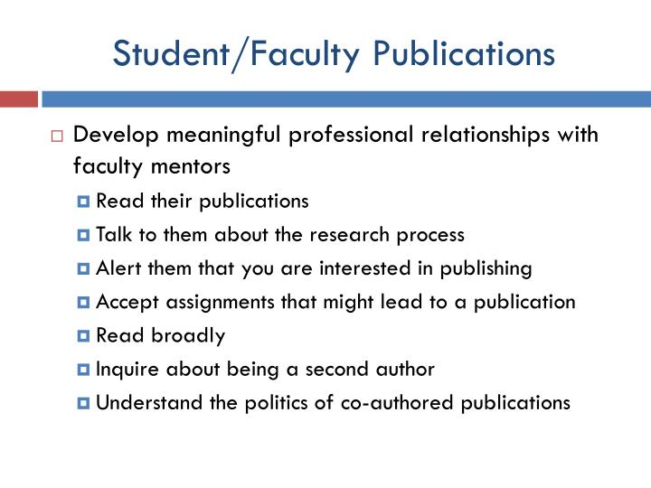 Student/Faculty Publications