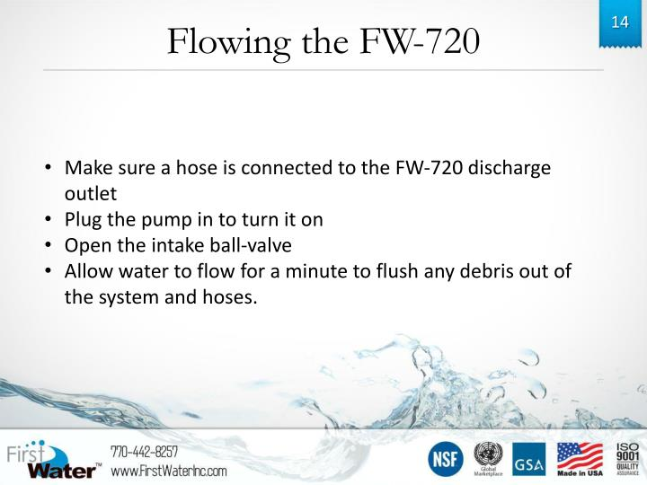 Flowing the FW-720