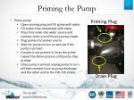 priming the pump