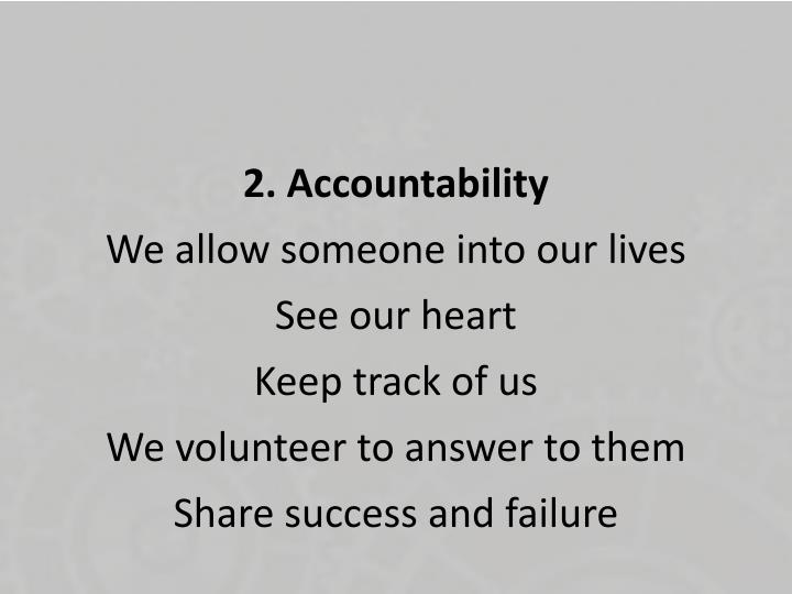 2. Accountability