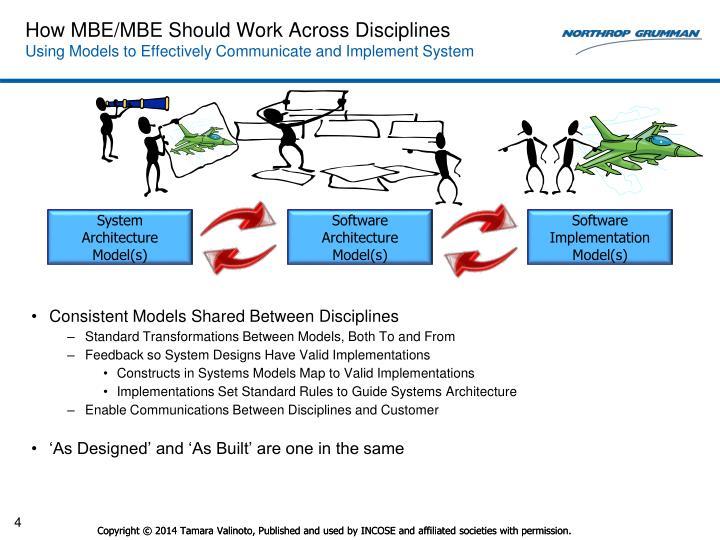 How MBE/MBE Should Work Across Disciplines