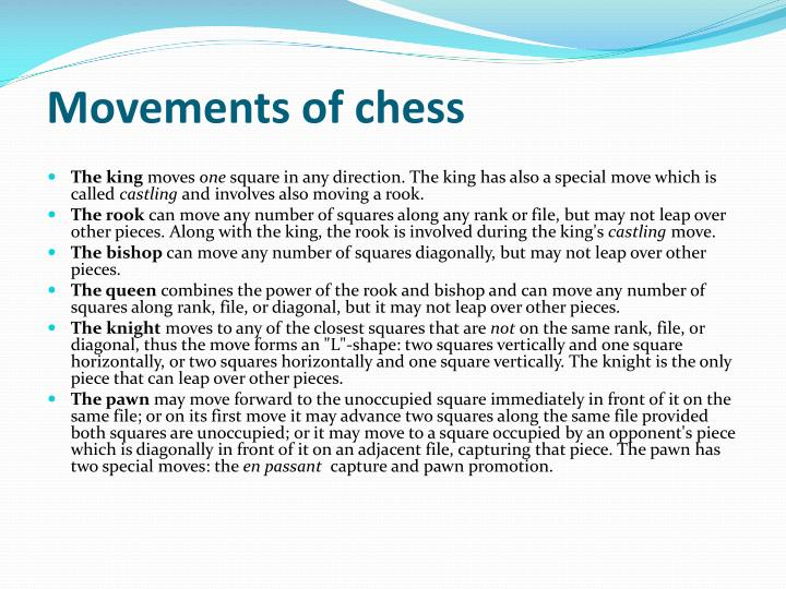Movements of chess