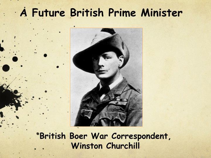 A Future British Prime Minister