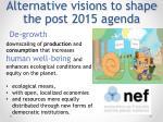 alternative visions to shape the post 2015 agenda