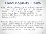 global inequality health