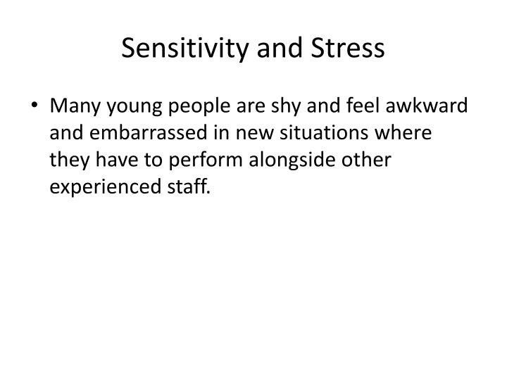 Sensitivity and