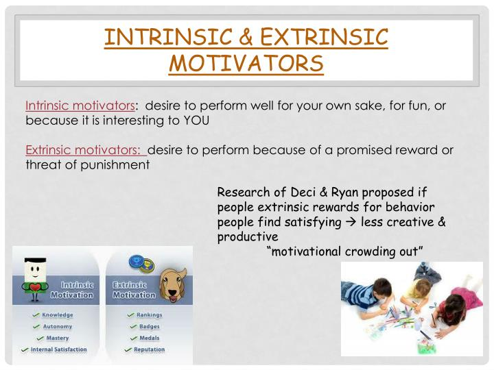 INTRINSIC & EXTRINSIC MOTIVATORS