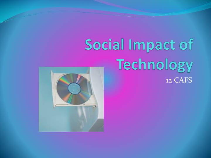 social impact of technology n.
