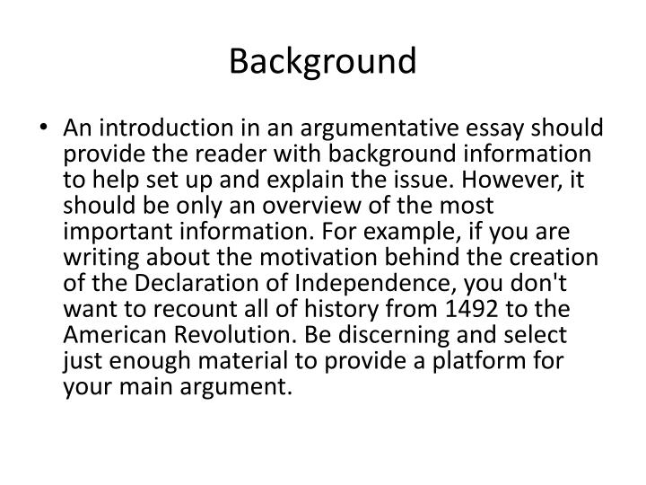 writing an introduction for an argumentative essay