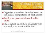 change quotes chain