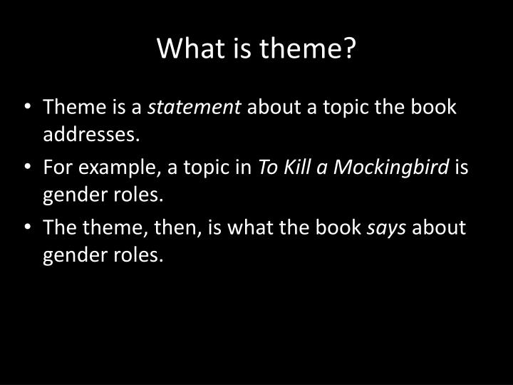 what is a theme topic