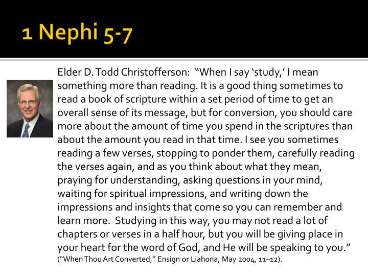 1 Nephi 5-7