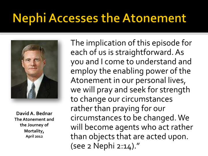 Nephi Accesses the Atonement