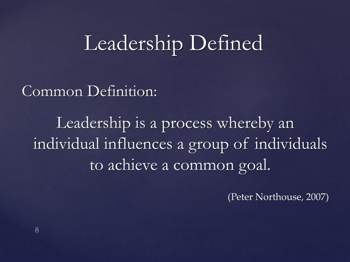 northouse definition of leadership