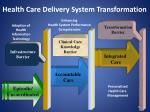 health care delivery system transformation