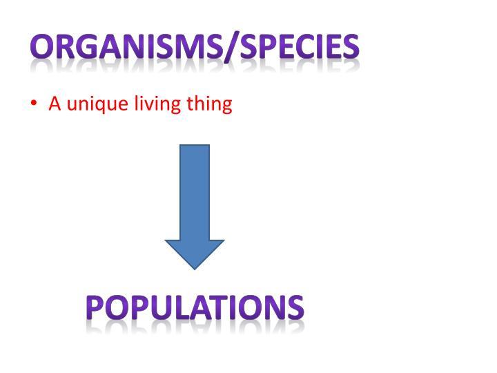 Organisms/species