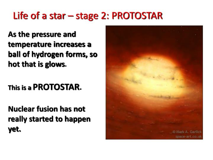 Life of a star – stage 2: PROTOSTAR