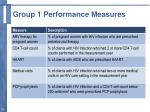 group 1 performance measures