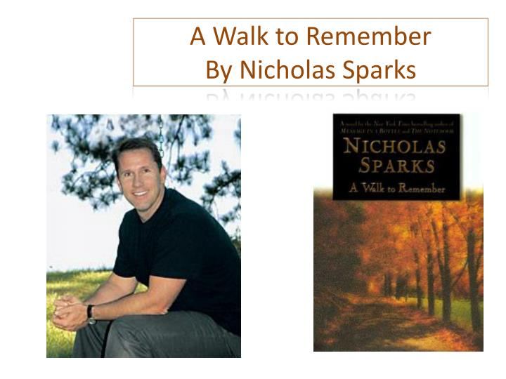 a walk to remember by nicholas sparks n.